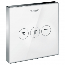 ShowerSelect Модуль с тремя запорными клапанами стеклянный белый хром HANSGROHE 15736400