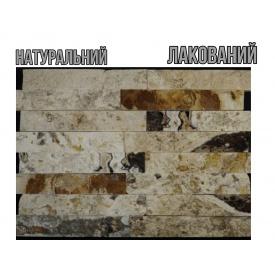 Декоративная плитка мрамор бело желтый 2х5х30 см