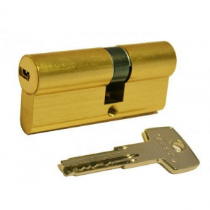 Цилиндр замка ABUS D6PS ключ-ключ антивыбивание 90 мм 45х45 латунь 5 ключей