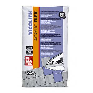 VICOLITH ACRILIC FLEX 25кг еластичний клей для плитки на основі білого цементу