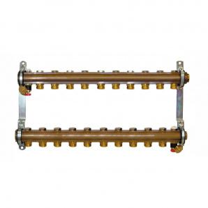 Колектор для теплої підлоги Herz G 3/4 на 11 контурів без витратомірів 1853111