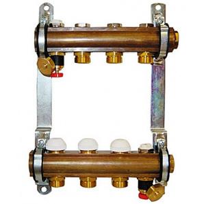 Колектор для теплої підлоги Herz G 3/4 на 7 контурів без витратомірів 1853107