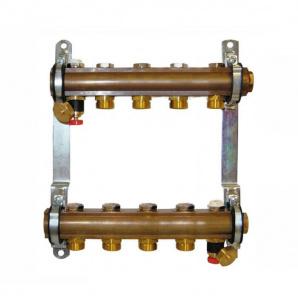 Колектор для теплої підлоги Herz G 3/4 на 5 контурів без витратомірів 1853105