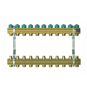 Колектор для теплої підлоги KAN на 11 виходів без витратомірів серія 71A 71110A