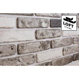 Декоративний цегла Валенсія Сірий лофт - бетон 45х185х6 мм