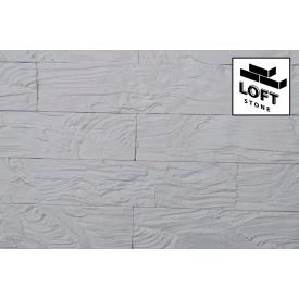 Декоративна цегла Деревне камінь Білий - гіпс 85х365х15 мм