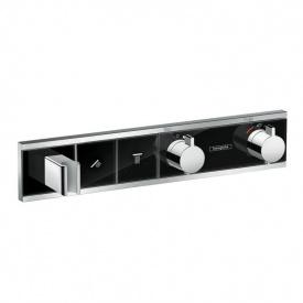 RainSelect Термостат для душа на 2 потребителя хром чёрный HANSGROHE 15355600