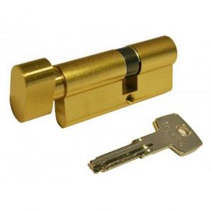 Циліндр замка ABUS КD6PS ключ-тумблер посилений захист 90 мм 45х45т латунь 5 ключів
