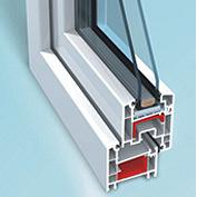 Двері вхідні п`ятикамерні ПВХ-профіль OPEN TECK ELIT 2000х800 мм білі
