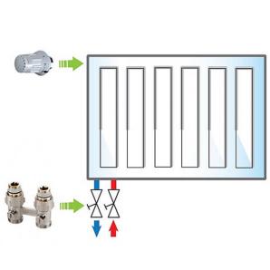 Пакет Meibes 5 Exclusive термоголовка 1352392-1 шт вузол нижнього підключення F10010-1 шт ME011095pack