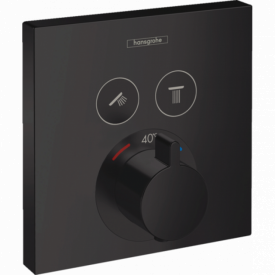 ShowerSelect Термостат для 2х потребителей скрытого монтажа цвет покрытия чёрный матовый HANSGROHE 15763670