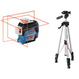 Лазерный нивелир Bosch GLL 3-80 C Professional + BT 150 30 м с приемником 120 м (0601063R01)