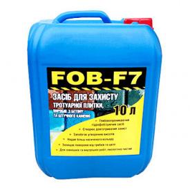 Гидрофобизатор водооталкивающая пропитка FOB-F7 для тротуарной плитки, бетона, камня, кирпича 10 л