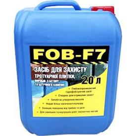 Гидрофобизатор водооталкивающая пропитка FOB-F7 для тротуарной плитки, бетона, камня, кирпича 20 л
