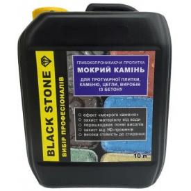Декоративная глубокопроникающая пропитка BlackStone Мокрый камень с эффектом тонировки 10 л