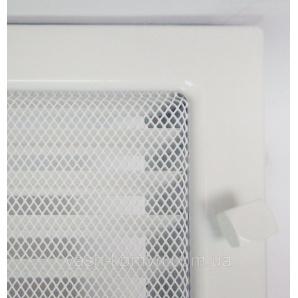 Решетка каминная крашеная с жалюзи 17x30 см белый