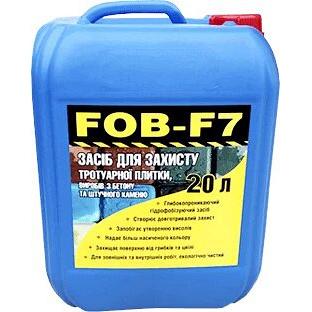 Гідрофобізатор водовідштовхуюче просочення FOB-F7 тротуарної плитки, бетону, каменю, цегли 20 л