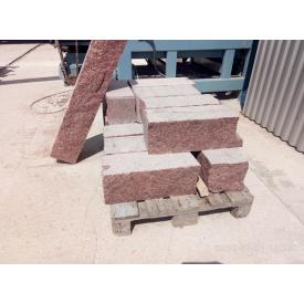 Стіновий камінь з граніту Лезниківського родовища 800/400/300+50 мм