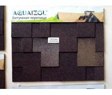 Битумная черепица Aquaizol серия Акцент Горячий шоколад коричневый