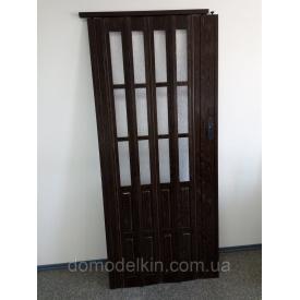 Дверь гармошка полуостекленные 860х2030х12мм