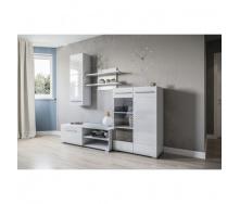 Гостиная Мир мебели Нео 2050х1510х520 мм белый/белый глянец Мир Мебели
