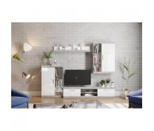 Гостиная Мир мебели Калифорния 2600х2000х400 мм индастриал/белый лак
