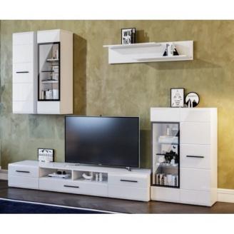 Гостиная Мир мебели Токио 2760х2000х455 мм белый глянец