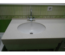 Столешница в ванную комнату из искусственного акрилового камня Tristone F 201