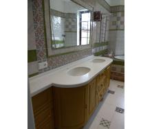 Столешница в ванную комнату из акрилового камня Tristone F 201