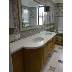 Столешница в ванную комнату из акрилового камня Tristone F 201 Київ