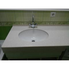 Столешница в ванную комнату из искусственного акрилового камня Tristone F 201 Київ