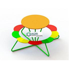 Столик с сидениями на 9 мест 1,73x1,73x0,85