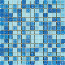 Мозаїка Stella di Mare R-MOS B31323335 4 на папері 327x327x4 мм мікс блакитний