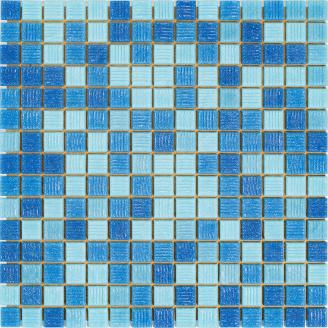 Мозаика Stella di Mare R-MOS B31323335 4 на бумаге 327x327x4 мм микс голубой