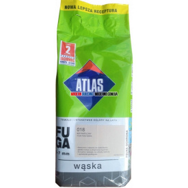 Затирка для плитки АТЛАС WASKA (шов 1-7 мм) 200 холодний білий 2 кг