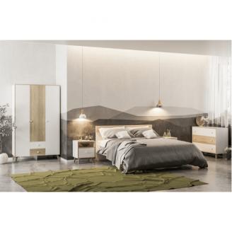 Спальня Мир мебели Эрика 3д дуб санома/белый