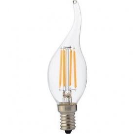 """Лампа Світлодіодна Filament flame - 6"""" 6W свічка на вітрі Е14 2700К"""