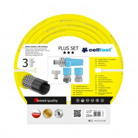 """Поливочный набор CellFast PLUS шланг 1/2"""" 25 м + комплект соединителей"""