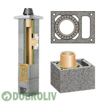 Комплект керамічного димоходу Schiedel Rondo Plus однотяговий з вентиляцією Plus 200 мм 4 м