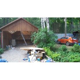 Демонтаж старых гаражей