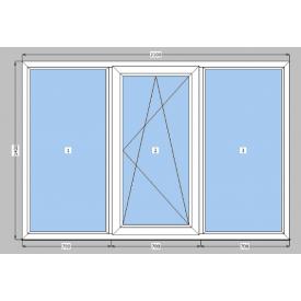 Металлопластиковое окно двухкамерное с энергосбрежением WDS 8S 82 мм