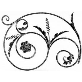 Розет кований круг 12 мм декор 550х750 мм