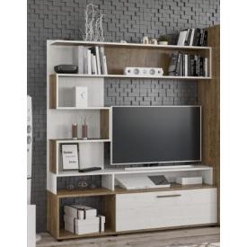 Стенка ТВ Мебель-Сервис Ферара 151х37х169 см Дуб април