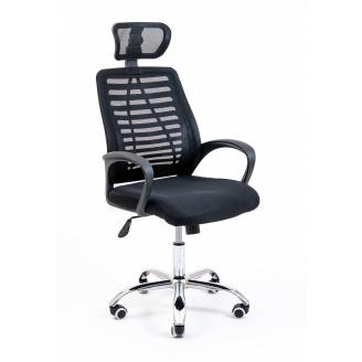Комп'ютерне крісло Richman Armchair Blast Хром чорний сітка пластик