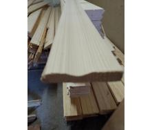 Лиштва фігурна суцільна Дерев`яний декор смерека 2200х70 мм