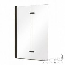 Шторка для ванны Besco Lumix 100x140 прозрачное стекло/профиль черный