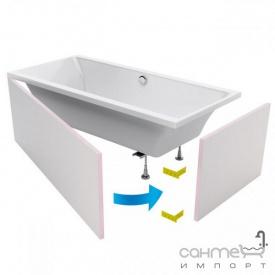 Комплект панелей під плитку для прямокутної ванни Excellent Flex System 200x90