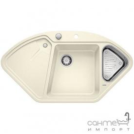 Гранітна плита, мийка на півтори чаші з сушкою Blanco Delta II Silgranit PuraDur 523660 білий