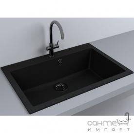 Кухонная мойка гранитная Fancy Marble Jersey 760 светло-черный