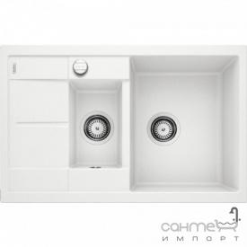 Гранитная кухонная мойка на полторы чаши с сушкой Blanco Metra 6S Compact Silgranit 513469 жасмин